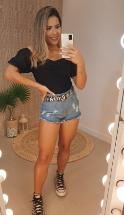 SHORT JEANS ZIPER LATERAL