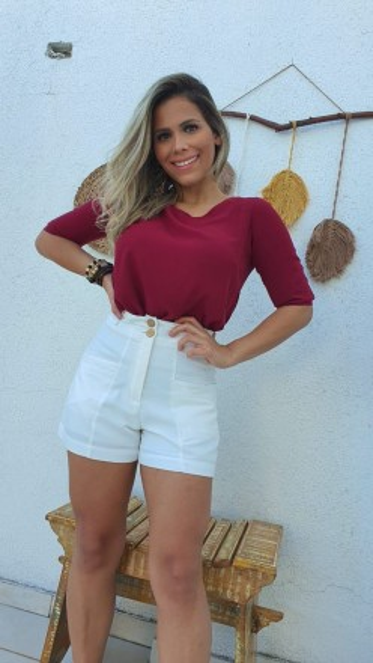 BLUSA RED LAÇO - BORDÔ
